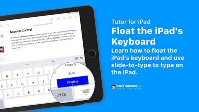 Float the iPad's Keyboard