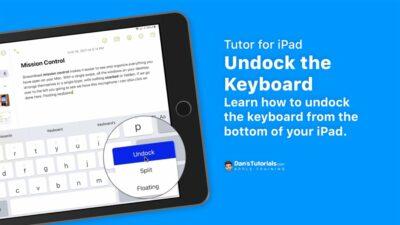 Undock the Keyboard on the iPad