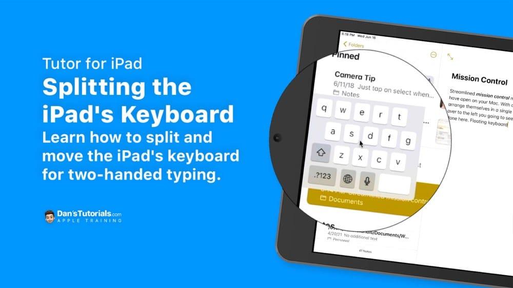 Splitting the iPad's Keyboard