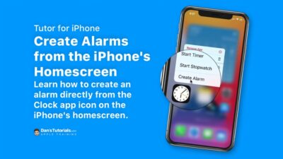 Learn how to create an alarm directly from the iPhone's homescreen.