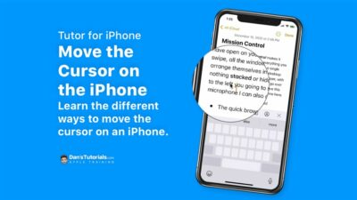 Learn how to Move the Cursor Around on the iPhone