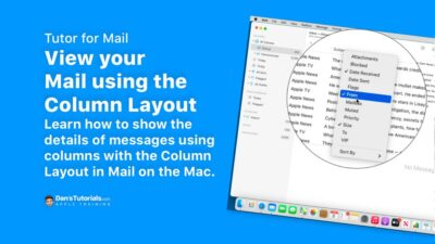 View your Mail using the Column Layout in the Mail app on the Mac