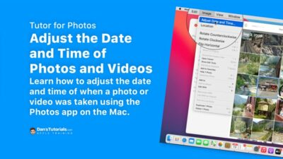 Adjust the Date and Time of Photos and Videos in Photos on the Mac