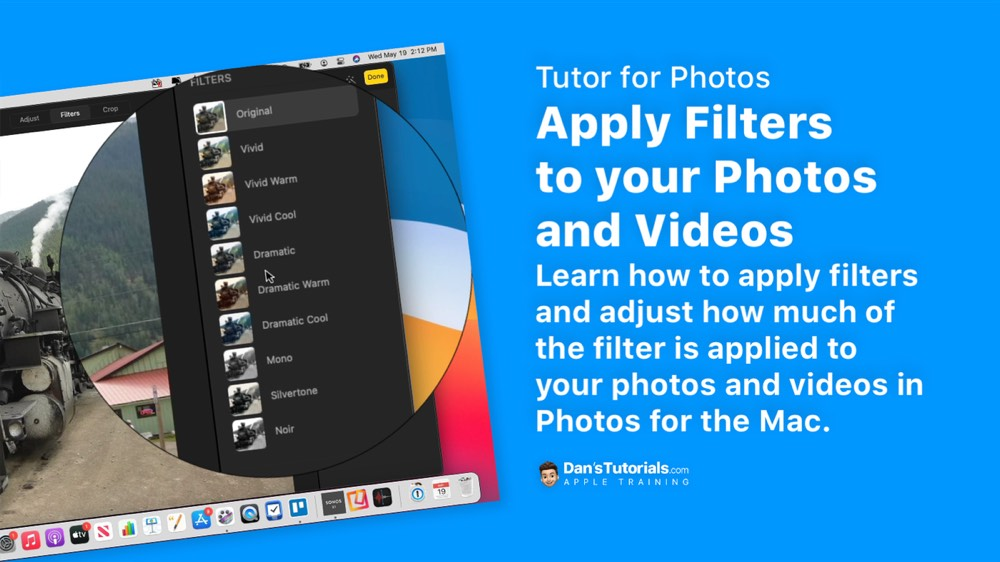 Apply Filters to your Photos and Videos in Photos on the Mac