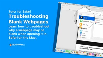 Troubleshooting Blank Webpages in Safari on the Mac