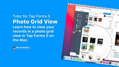 View your records in a photo grid view in Tap Forms 5 on the Mac.