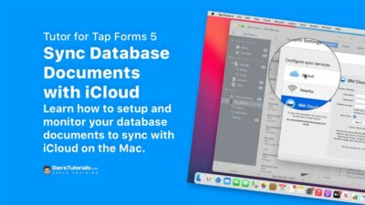 Sync Database Documents with iCloud with Tap Forms 5 on the Mac