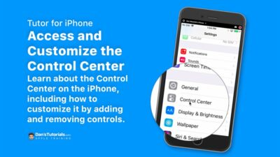 Access and Customize the iPhone's Control Center
