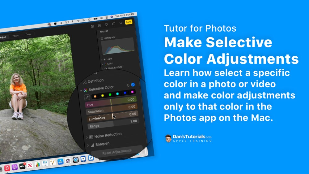 Make Selective Color Adjustments to Photos and Videos in the Photos app on the Mac