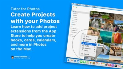 Create Projects with your Photos in the Photos app on the Mac