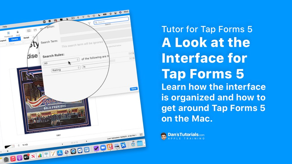 Do you need a quick lesson on how to get around Tap Forms 5 on the Mac? This video will help! I show you how the interface is organized with forms, records and layouts. I also show you how to access the form inspector and layout inspector. Learn the basics of getting around Tap Forms 5 in this video for Tap Forms 5 on the Mac.