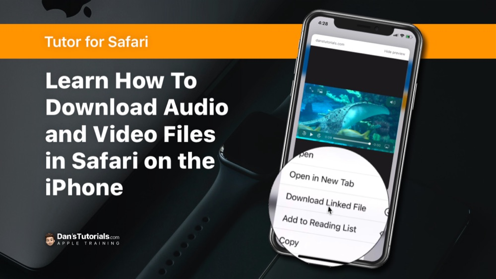 Learn how to download audi and video files in Safari on the iPhone.