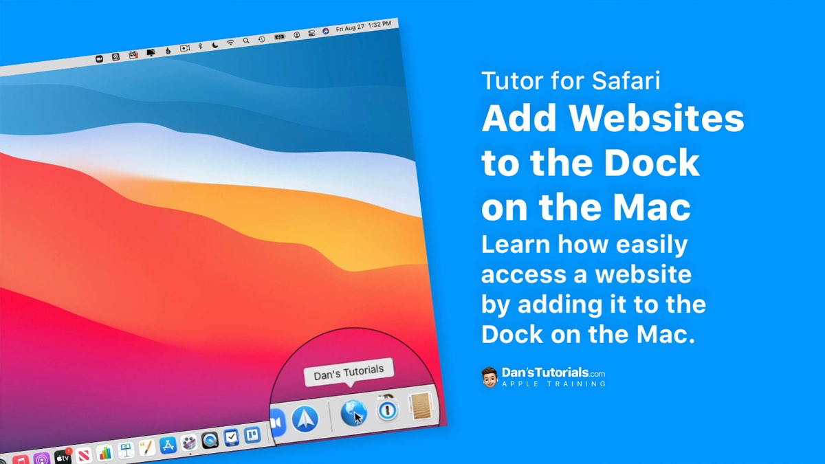 Add Websites to the Dock on the Mac