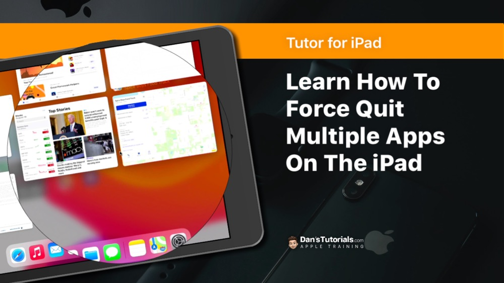 Learn how to force quit multiple apps at the same time on the iPad.