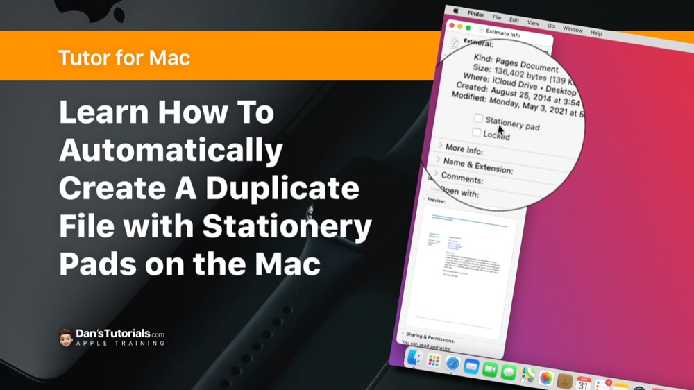Duplicate Documents with Stationery Pad on the Mac