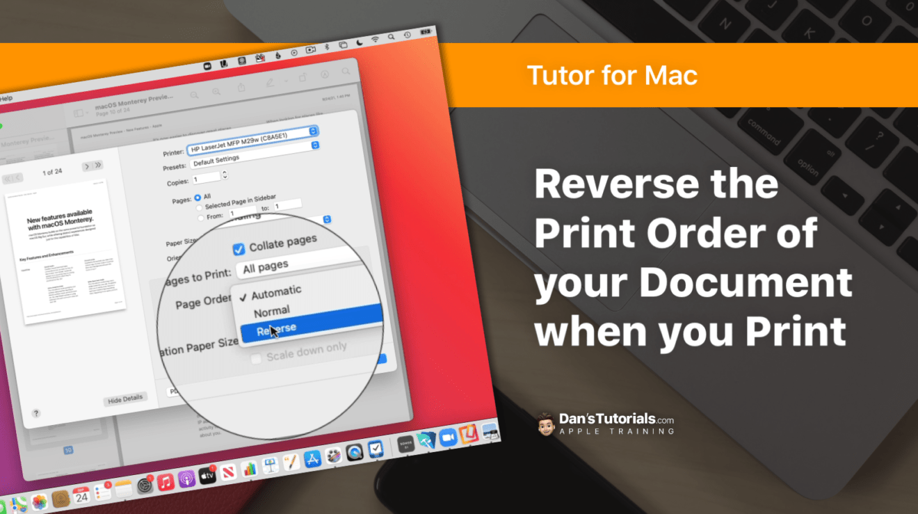 Reverse the Print Order of your Document