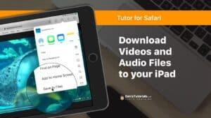 Download audio and video files in Safari on the iPad.