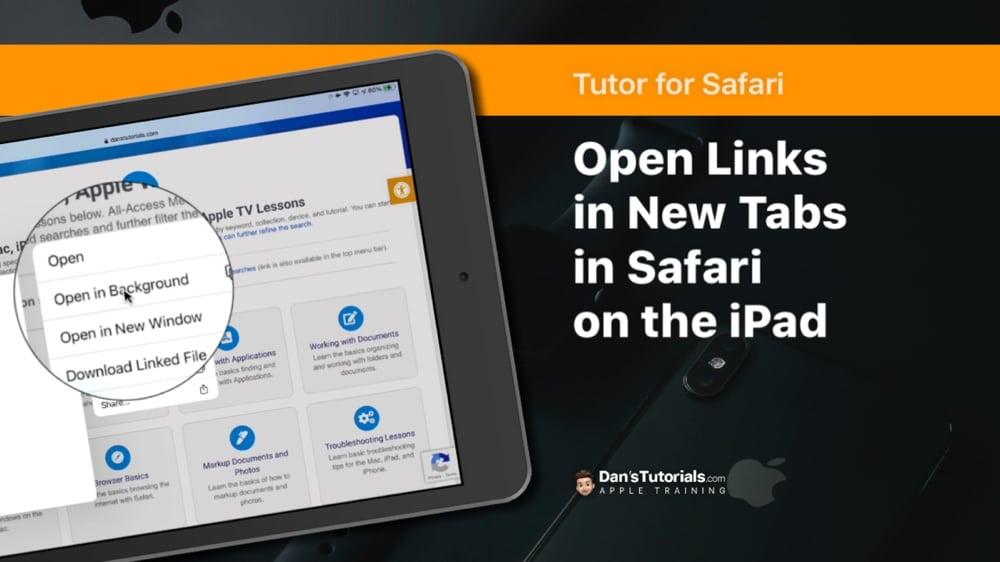 Open Links in New Tabs in Safari on the iPad