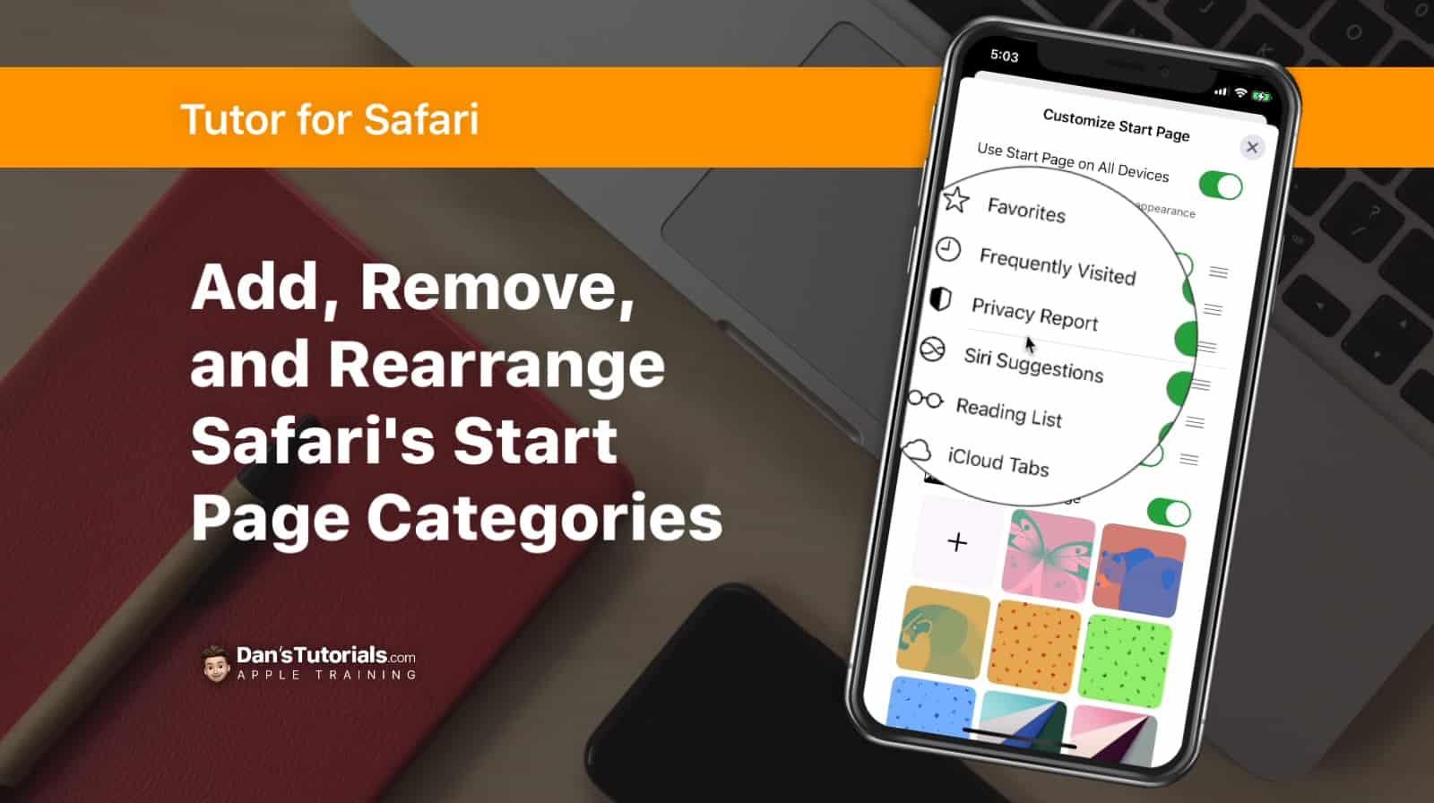 Learn how to add, remove, and rearrange Start Page categories in Safari on the iPhone