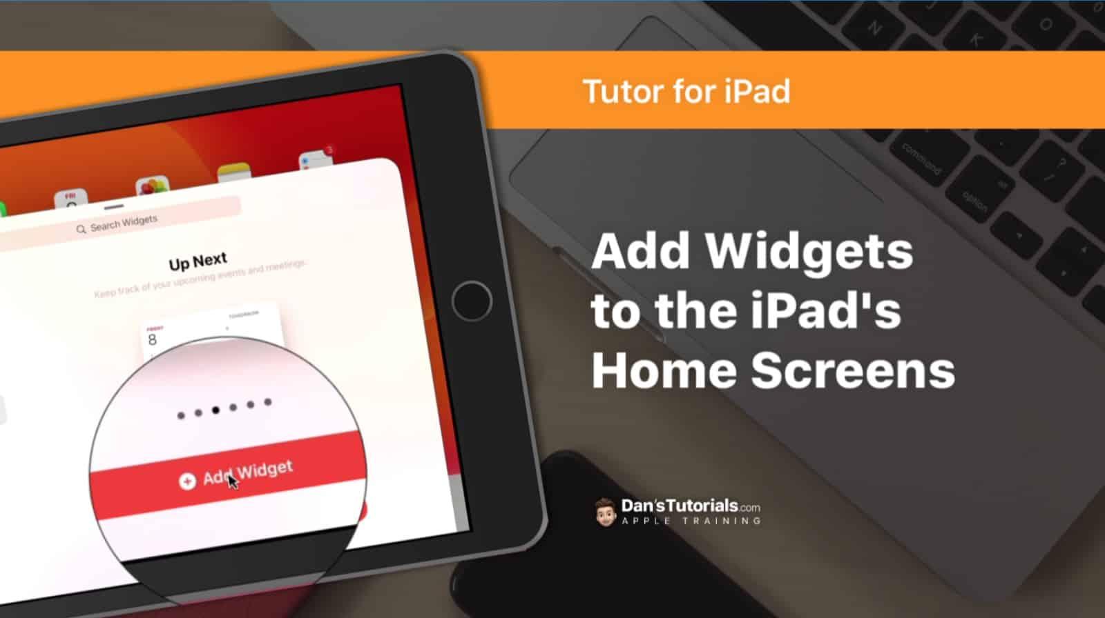 Add Widgets to the iPad's Home Screens
