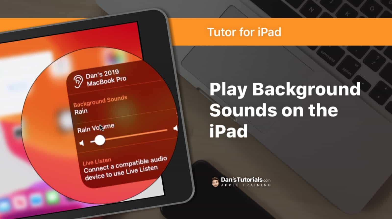 Play Background Sounds on the iPad