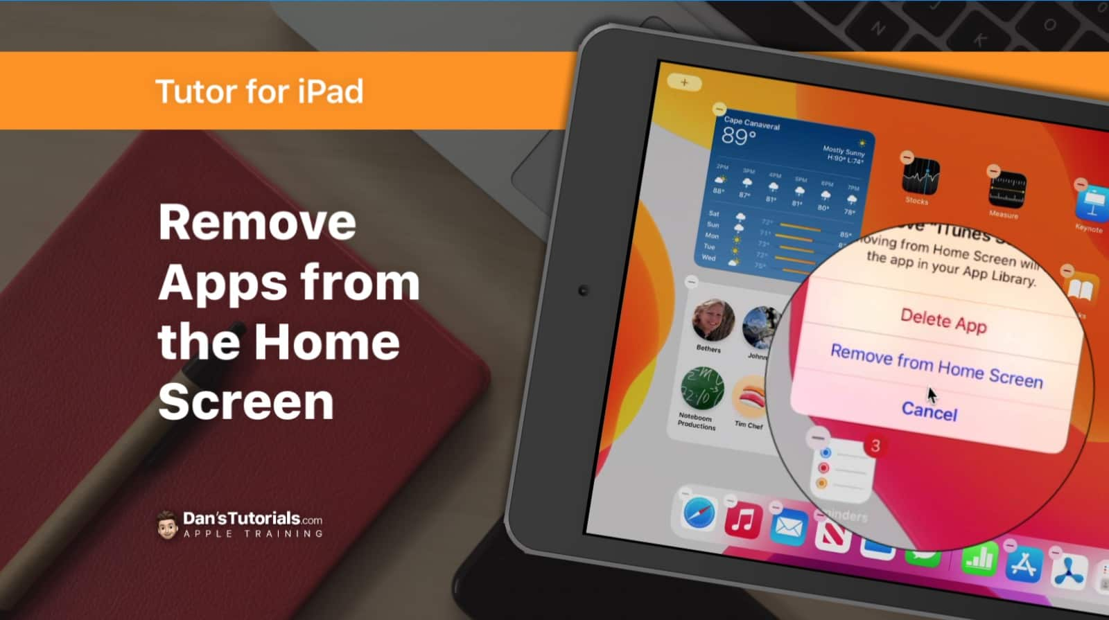 Remove Apps from the Home Screen on the iPad