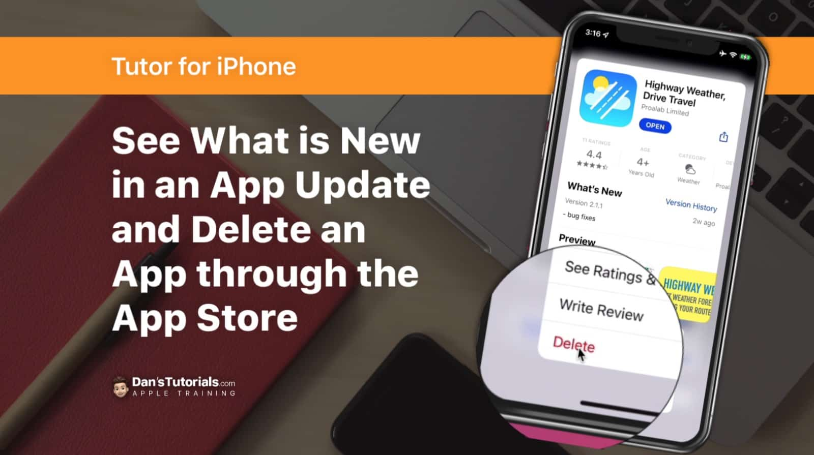 Find App Updates and Delete Apps through the App Store