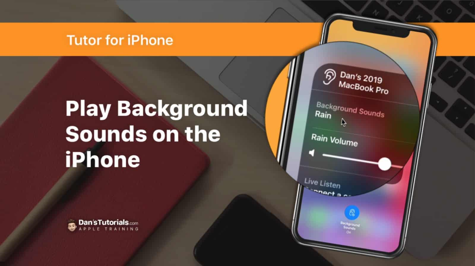 Learn how to play background sounds, such as rain or a stream, on the iPhone.