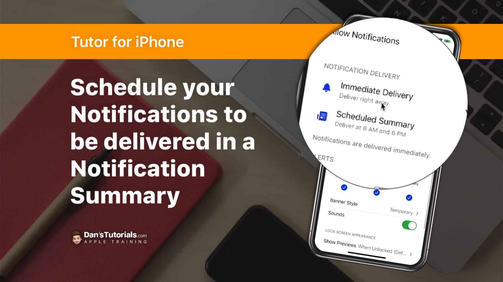 Schedule Notifications to be delivered in a Notification Summary