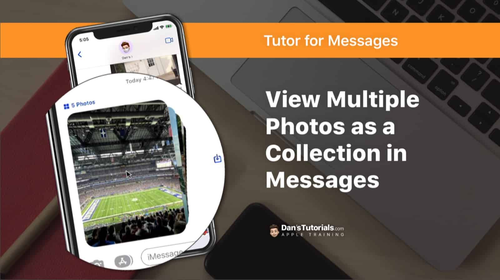 View Multiple Photos as a Collection in Messages on the iPhone