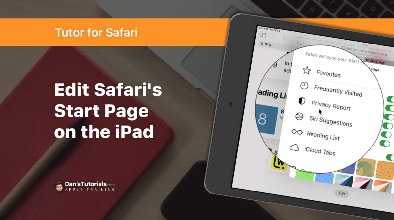 Edit Safari's Start Page on the iPad