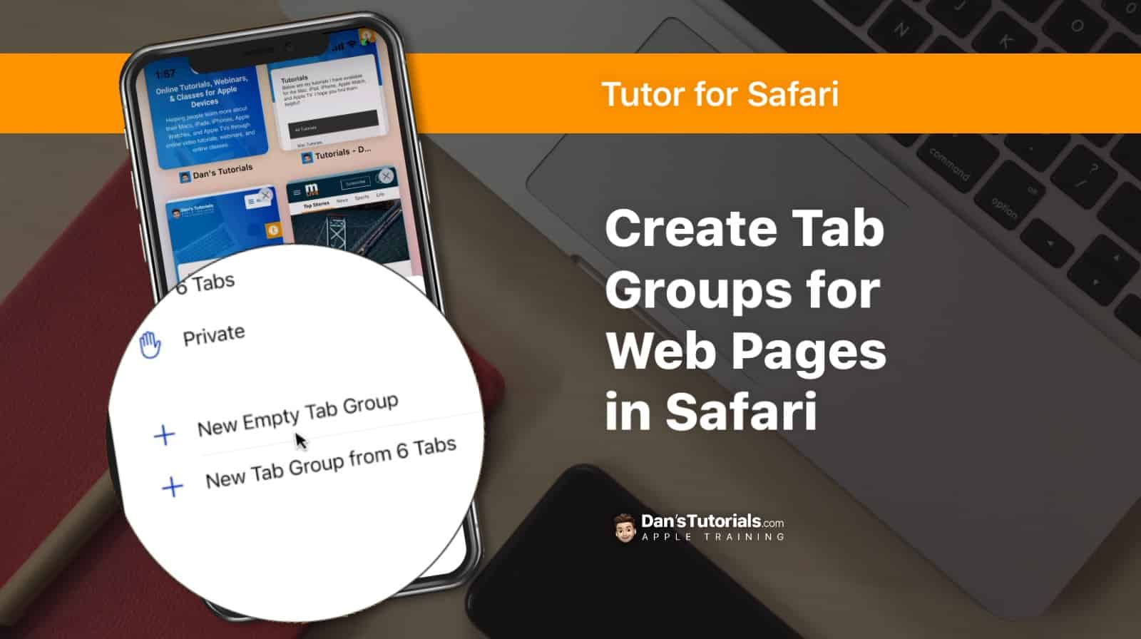 Create Tab Groups for Web Pages in Safari on the iPhone
